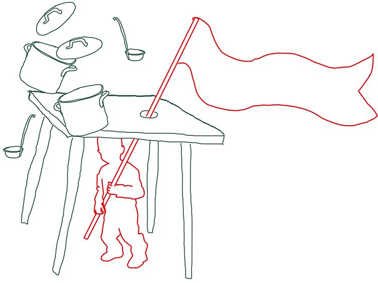 Onder de tafel